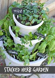 stacked herb garden hip2save for quick and easy diy container herb gardens