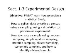 How To Make An Experimental Design