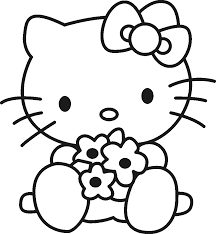 Small Picture Coloring Pages Valentines Day Hello Kitty Coloring Page Free