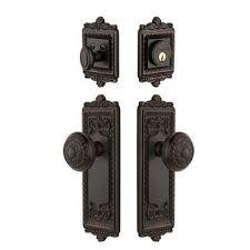 antique looking door knobs.  Door Grandeur Windsor Entry Door Set With Knob  Keyed Alike In Antique Looking Knobs O