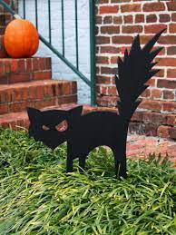 black cat outdoor decoration