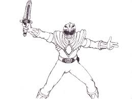 Original Coloring Page Of Power Rangers Green — FITFRU Style ...