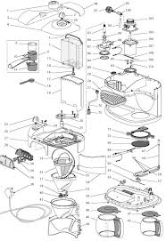 delonghi coffee maker spares accessories bco120 delonghi bco120 exploded spare parts diagram