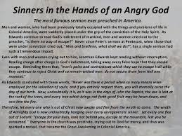 sinners in the hands of an angry god essay my family at the preaching site of sinners in the hands of an angry god my family at the preaching site of sinners in the hands of an angry god