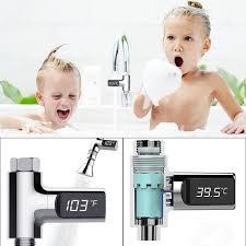 electrical health shower thermometer waterproof digital head water 5 85 degree bathroom accessories kids baby