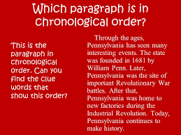 Chronology Words Chronological Text Structure Ppt Video Online Download