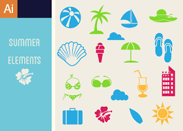 Summer Icons Summer Icons Vector Set 1