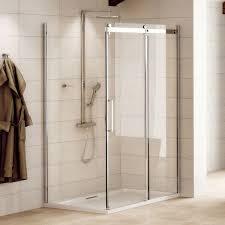 aquafloe elite ii 8mm 1000 x 900 frameless sliding door shower enclosure