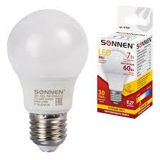 <b>Лампочка Sonnen LED</b> A55-7W-2700-E27, 7 (60) Вт, E27 ...