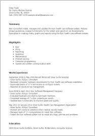 1 Epic Consultant Resume Templates Try Them Now Myperfectresume