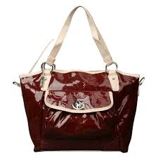 Coach Bleecker Riley Carryall Small Dark Red Satchels ECF
