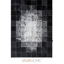 reduced patchwork cowhide rug 20 ivory black