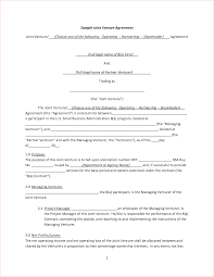 Joint Partnership Agreement Template Joint Venture Agreement Ninjaturtletechrepairsco 3