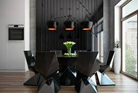 black furniture decor. 50 Dining Room Dеcor Ideas \u2013 How To Use Black Color In A Stylish Way Furniture Decor M