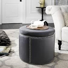 gray ottoman coffee table poufs charcoal storage ottoman round storage ottoman
