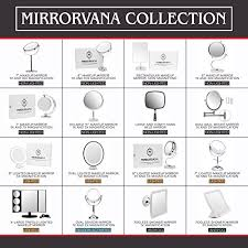lightluxe 5x lighted magnifying makeup mirror w bright led lights 360 swivel locking suction