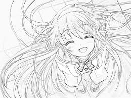 Cute Anime Girl Coloring Page Cartoon Anime In 2019 Anime