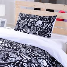 black and white bedding paisley american flag bedding skull bedding new hot duvet cover set twin full queen in bedding sets from home garden on