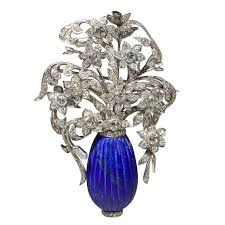 antique lapis and diamond brooch vine and antique jewelry at brian stewart gallery