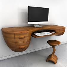 cool furniture design. Office : Amazing Computer Desk Design With Rustic Wood Top Idea And Appealing Style Monitor Completed Drawers Also Wooden Chair - 29 Very Cool Furniture R