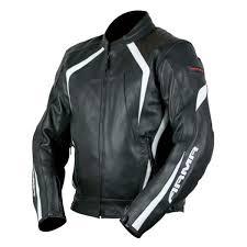 800points armr moto katana leather jacket black white