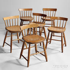 assembled set of six low back shaker dining chairs