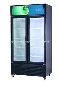 glass top refrigerator supermarket equipment manufacturer 3 door glass mini fridge table top bar refrigerator for