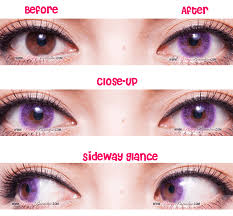 Crystal Light Blue Contacts G G Crystal Light Violet Circle Lenses Colored Contacts