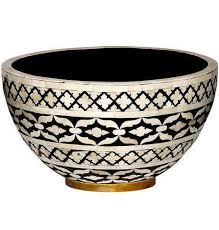 Black And White Decorative Bowls