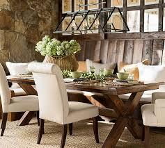 rustic rectangular chandelier dining room