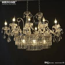 gorgeous rectangle crystal chandelier lighting fixture 13 lights glass chandelier lighting re hanging dining room drop lamp chandelier for dining room
