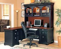 office max computer desk with hutch l shaped black design best