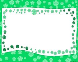 green garden border frame background