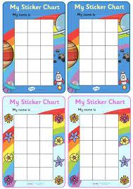 Reward Chart Ideas For Kindergarten Twinkl Resources My Sticker Chart Classroom Printables