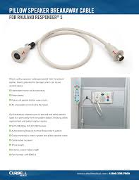 Rauland Responder Call Light System Manual Pillow Speaker Breakaway Cable Curbell Medical Products