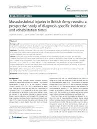 British Army Bmi Chart Pdf Musculoskeletal Injuries In British Army Recruits A