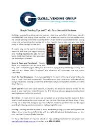 Vending Machines Profitable Business Simple Simple Vending Tips And Tricks For A Successful Business