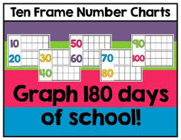 180 Days Of School Chart 10 180 Ten Frame Number Charts Graph The Number Of School