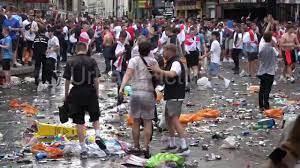 فيديو.. فوضى قبل نهائي اليورو بين إنجلترا وإيطاليا