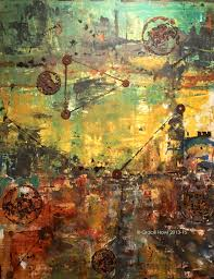 industrial ix contemporary abstract art c 2016 sold