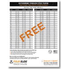 Hypo Tube Size Chart Www Bedowntowndaytona Com