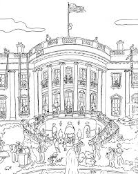 Small Picture Coloring book White House