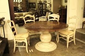 60 inch round kitchen table antique white round kitchen table with wooden top plus 4 antique