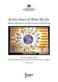 values education values education good practice schools project  values education good practice schools project stage 2 final report