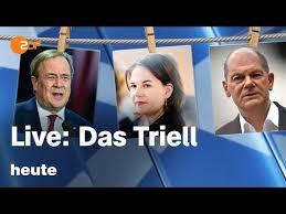 Die kanzlerkandidaten diskutieren heute das erste mal zusammen im tv. Livestream Und Debat O Meter Wie Schlagen Sich Baerbock Laschet Und Scholz Im 2 Tv Triell