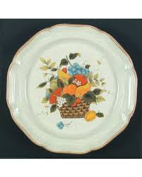 mikasa garden harvest. Mikasa Garden Harvest Dinner Plate, Fine China Dinnerware - Club,Fruit Basket Center