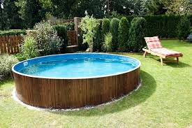 wood patio with pool. Outdoor Wooden Frame Swimming Pool Above Ground Pools Regina G Wood Patio With