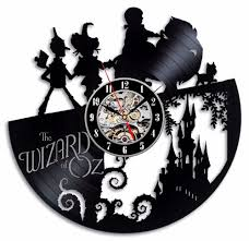 the wizard of oz vinyl record wall clock decorate your home with modern art  on wizard of oz vinyl wall art with the wizard of oz vinyl record wall clock decorate your home with