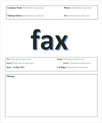 Basic Fax Cover Sheet Templates Free Sample Example Format ...