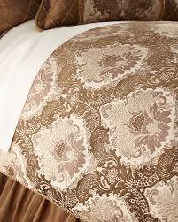 king felicity duvet cover brown beige dian austin couture home